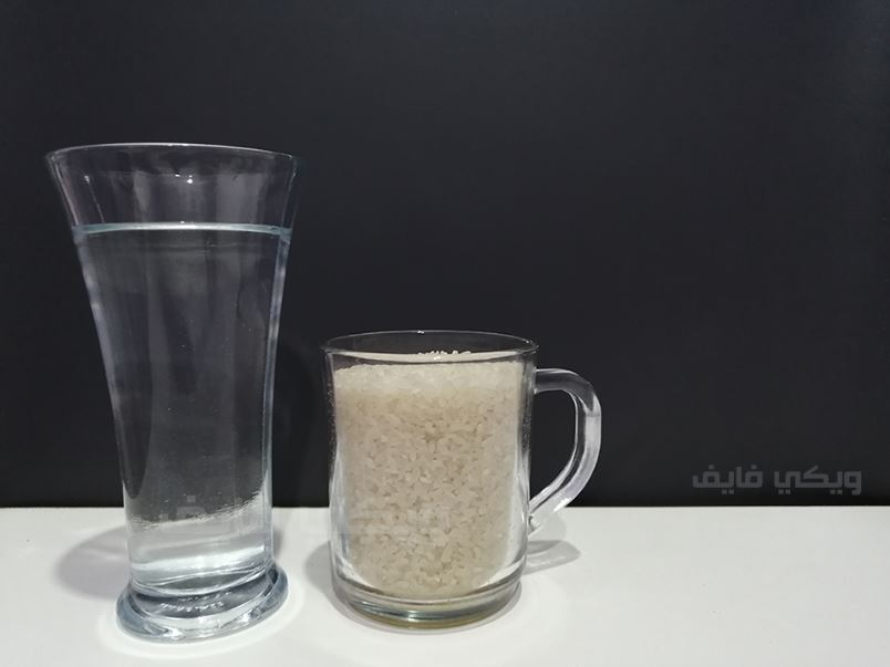 كوب الرز كم يحتاج ماء لكل أنواع الأرز